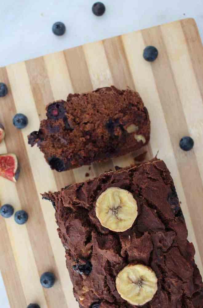 Chocolade teff bananenbrood recept
