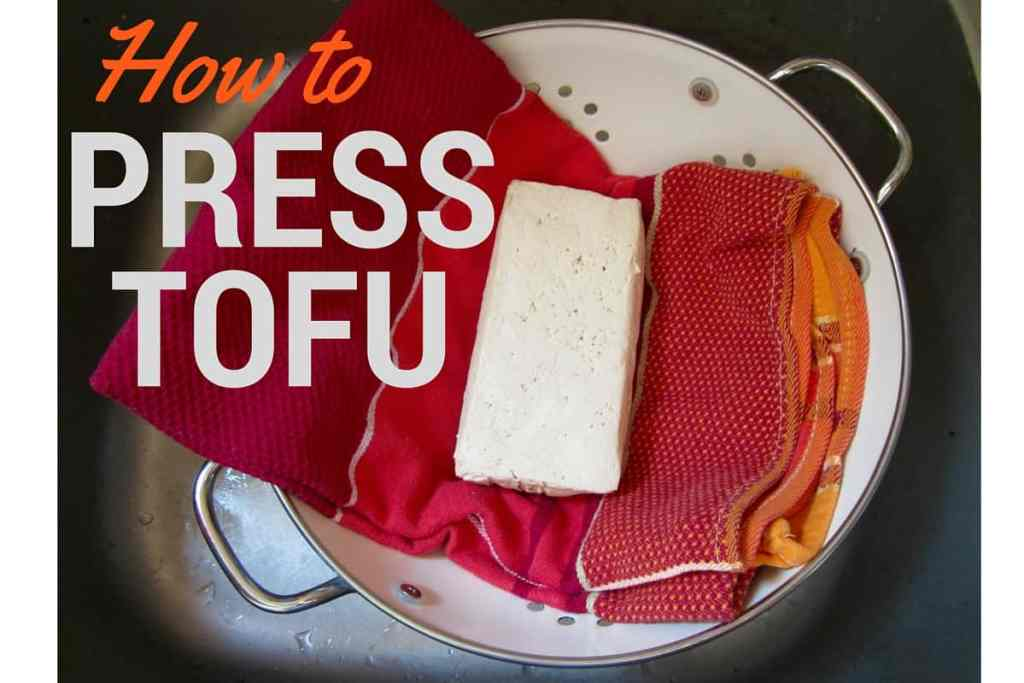 Quick & easy tutorial on how to press tofu before cooking to ensure maximum flavor! | veganchickpea.com