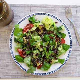 Smoky Summer Salad with Coconut Bacon
