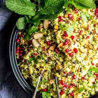 Jeweled Persian Cauliflower & Pomegranate Salad