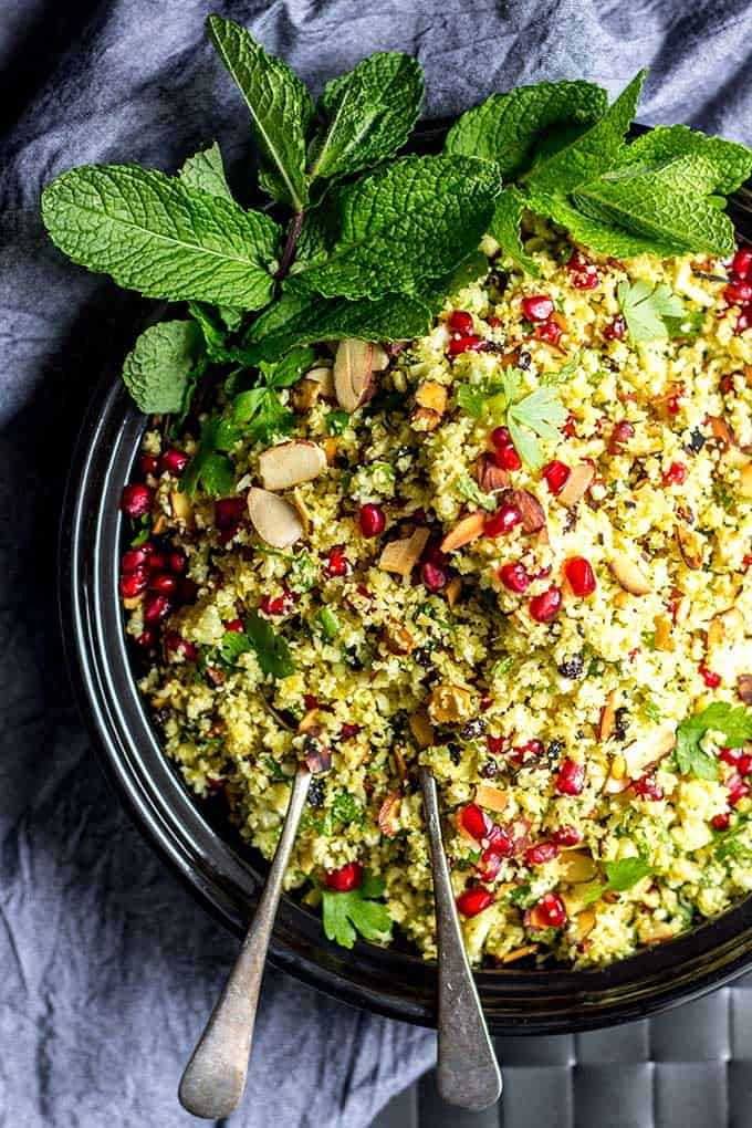 Jeweled Persian Cauliflower & Pomegranate Salad
