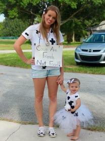 costume maman enfant vache