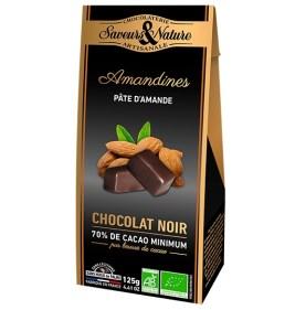 Chocolat Amandines bio Saveurs et Nature