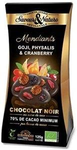 Mendiants bios au chocolat