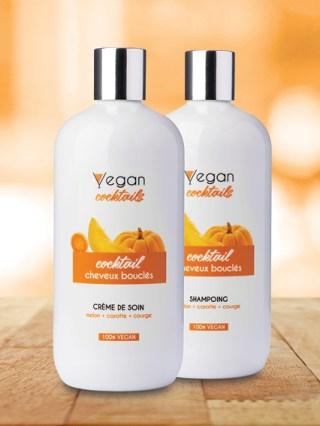 crème de soin vegan cocktail cheveux bouclés