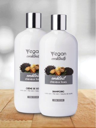 shampoing vegan cocktails cheveux lisses