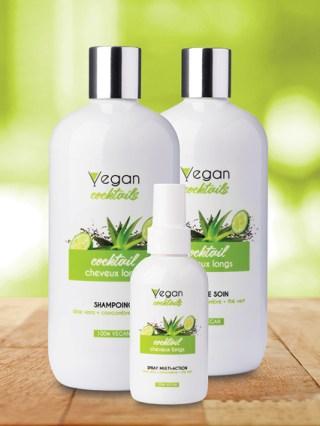 Shampoing vegan et soin naturels pour cheveux longs