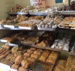 Vegan baklava Corfu town bakery
