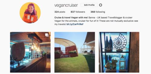Vegancruiser Instagram