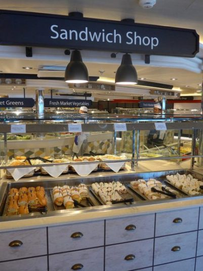 World Fresh Marketplace Caribbean Princess sandwhich station