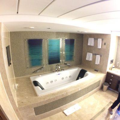 Celebrity Eclipse ship tour Penthouse Suite bathroom