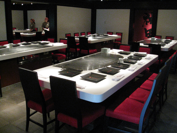 Moving Over To Teppan Edo Vegan Disney World - Teppan table