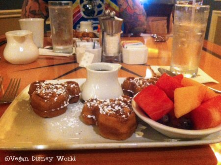 Mickey Waffles and Fruit