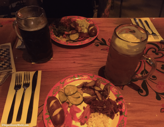 Big beers and full plates