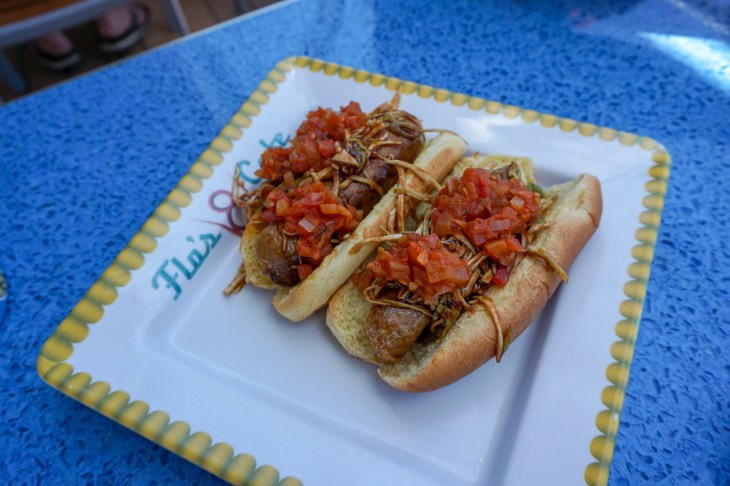 2 Plant Based BBQ Slaw Dogs