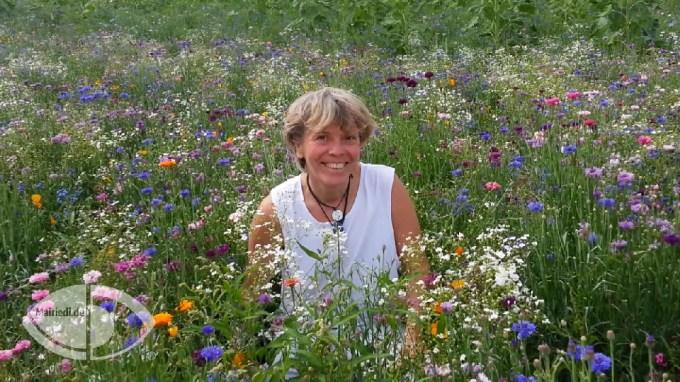 Sabine M. Mairiedl im Bienenwiesenhimmel