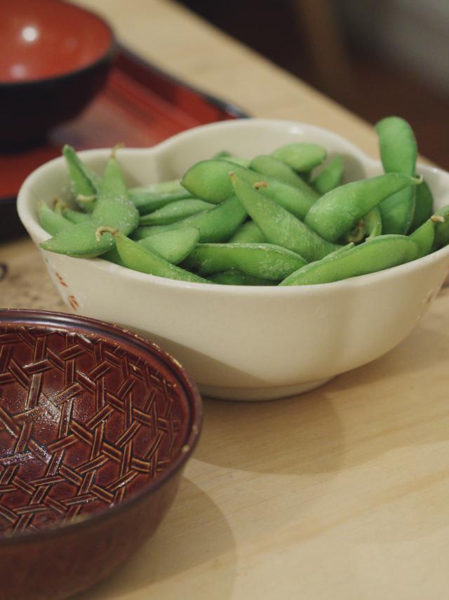 Edamame beans at Harajuku Kitchen