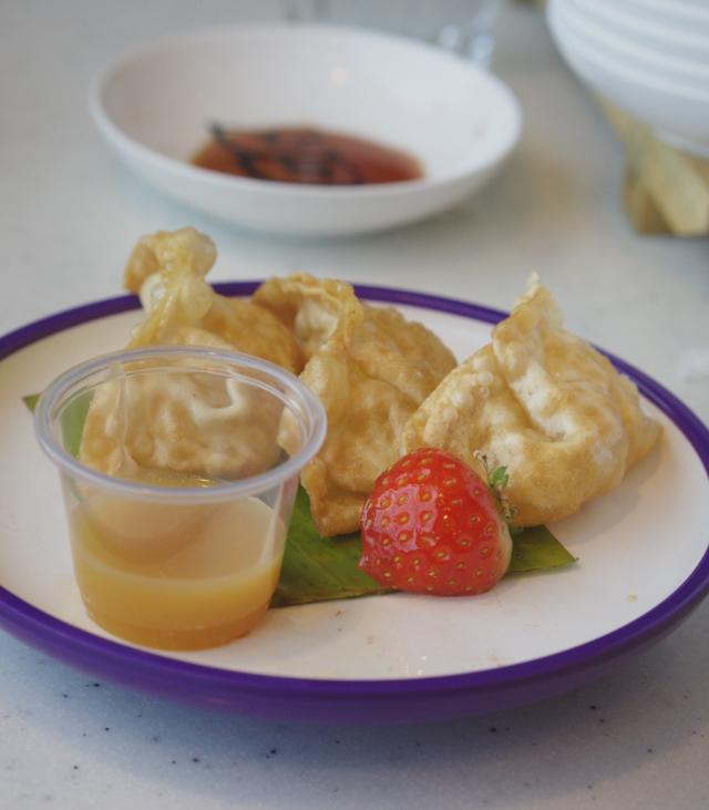 Apple gyoza at Yo Sushi