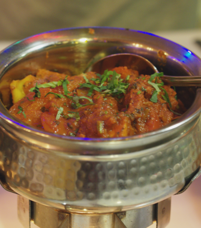 Vegetable Rogan Josh at Raj Restaurant Blackhall