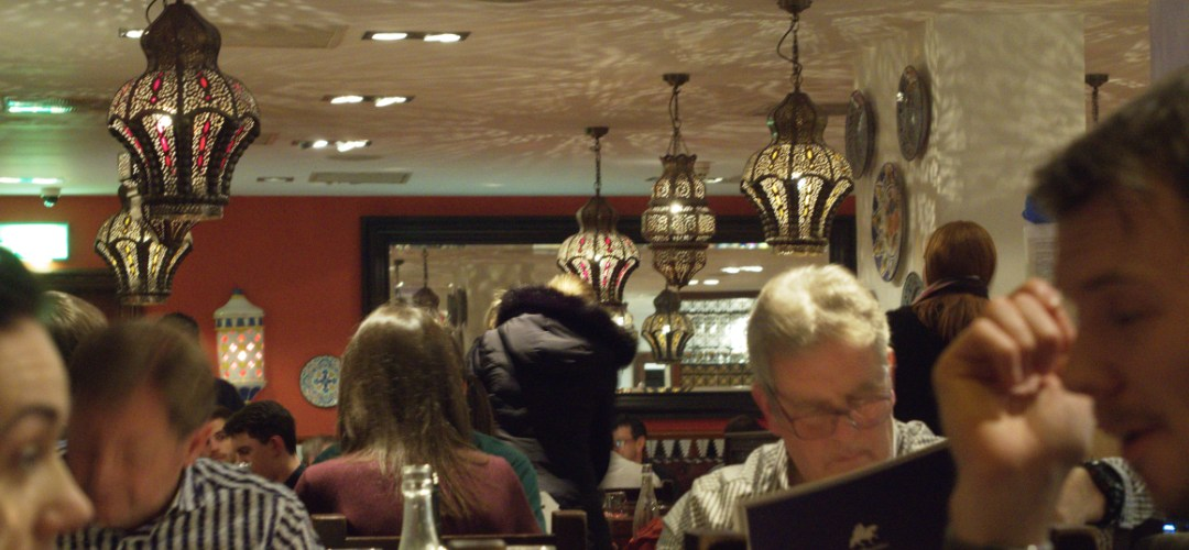 Busy dining area at Cafe Andaluz