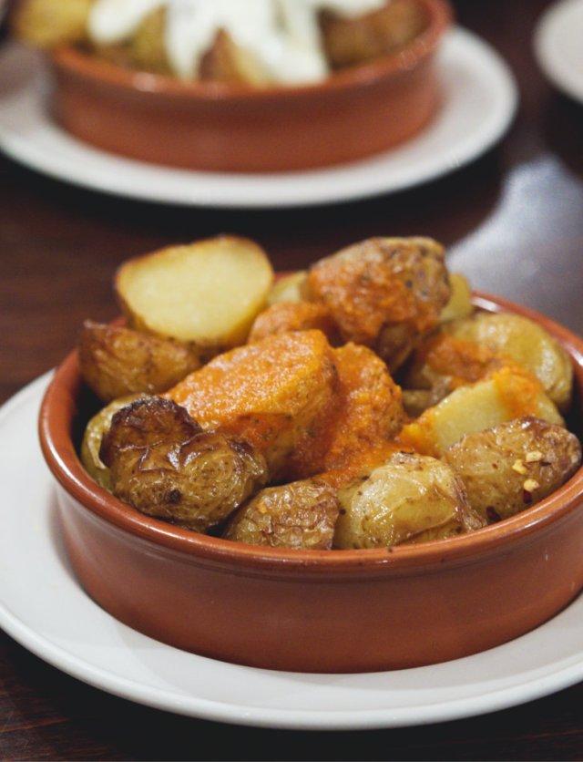 Vegan patatas bravas at Cafe Andaluz Edinburgh