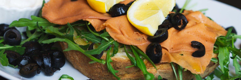 Vegan salmon bruschetta at Novapizza Edinburgh