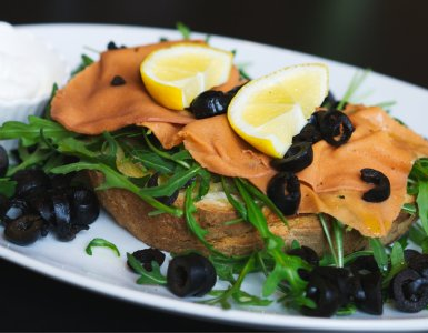 Vegan salmon bruschetta at Novapizza Edinburgh