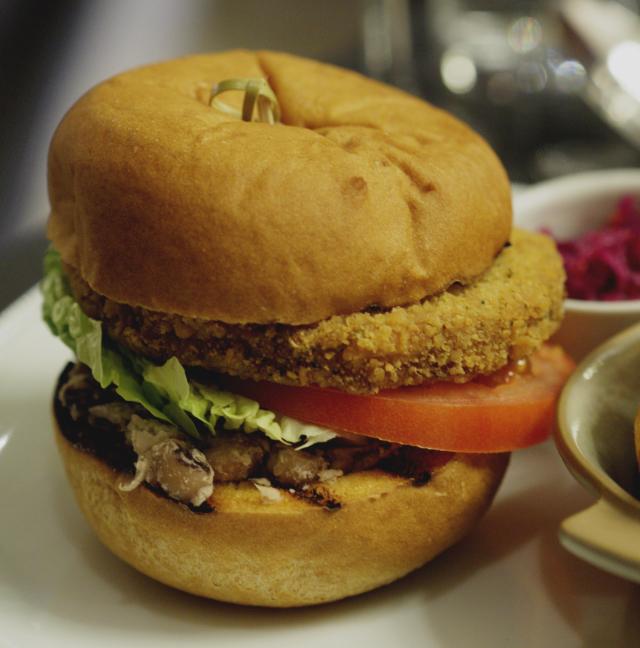 Vegan Burger at Bread Street Brasserie