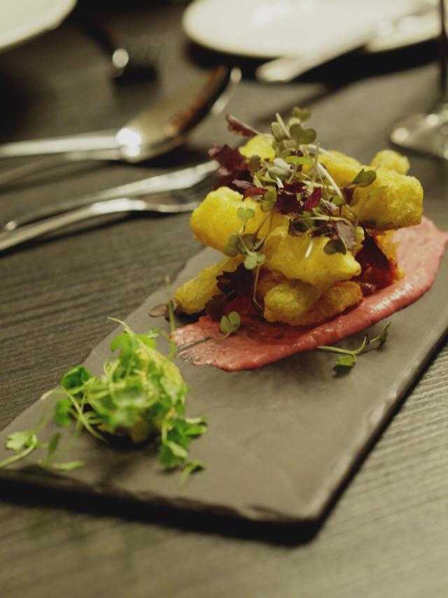 Vegan tempura at Bread Street Brasserie, Edinburgh