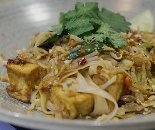 Vegan pad thai at Wagamama, Edinburgh