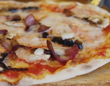 Vegan pizza at Zizzi Edinburgh