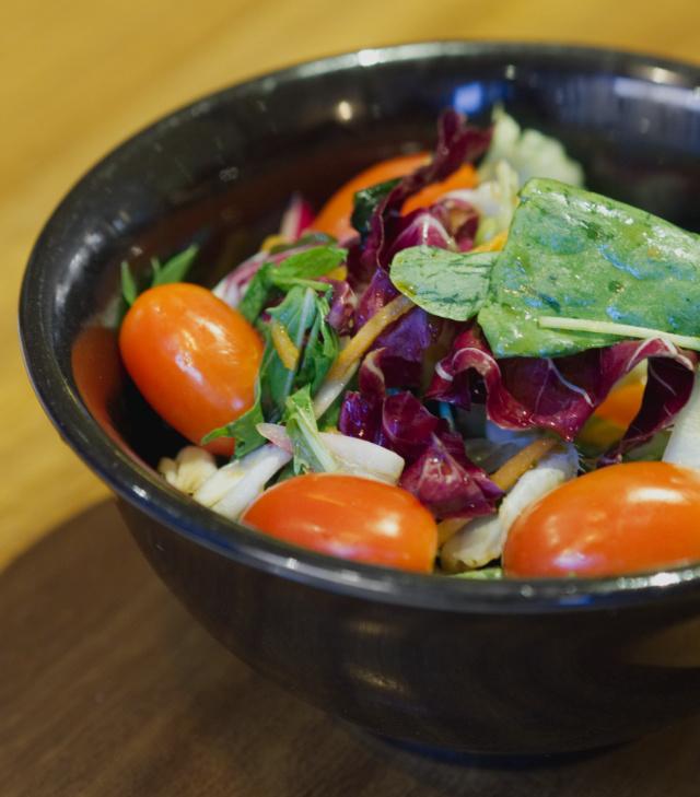Vegan raw salad at Wagamama, Edinburgh
