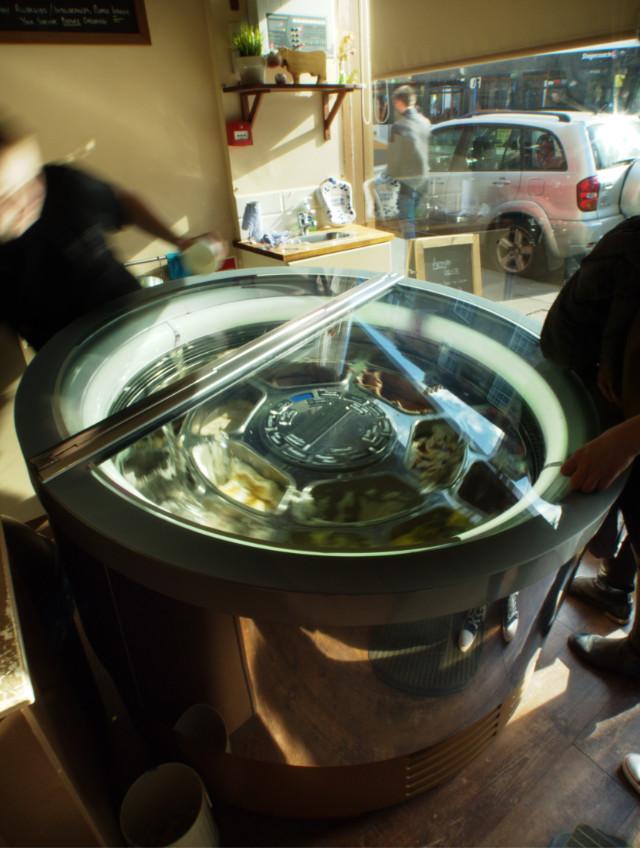 Spinning drum of dreams at Adffogato, Edinburgh