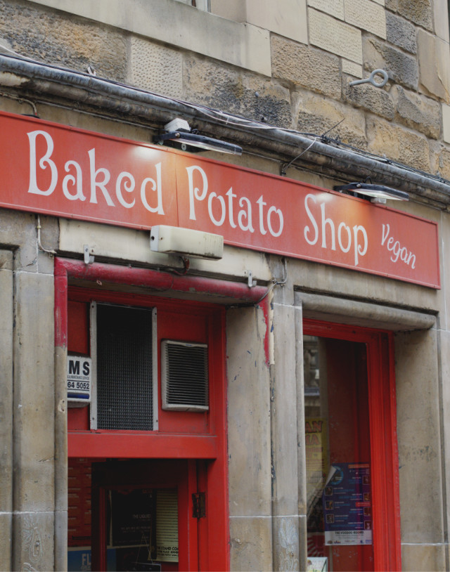 The Baked Potato Shop Sign