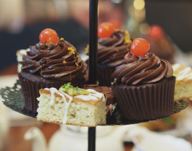 Vegan chocolate orange cupcakes at Casa Angelina, Edinburgh