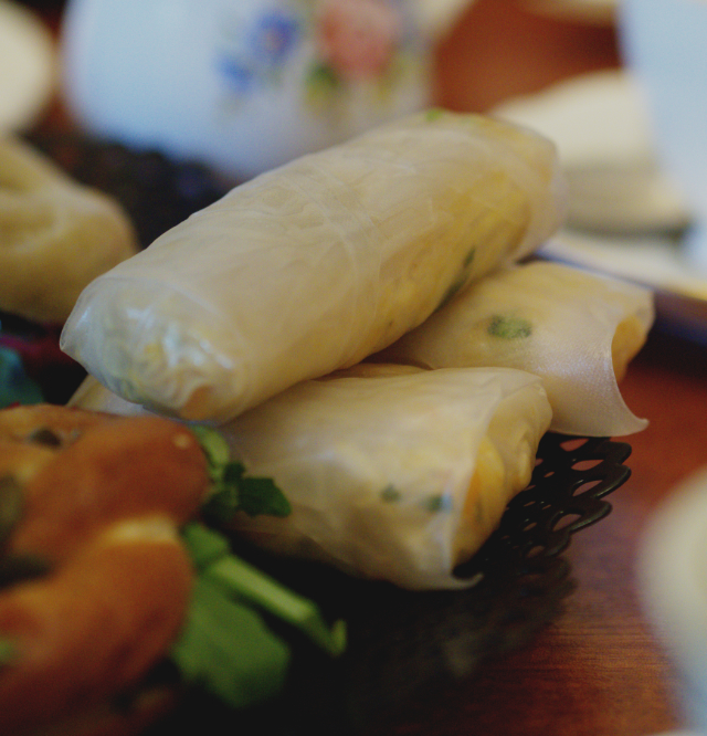 Vietnamese spring rolls at Casa Angelina, Edinburgh