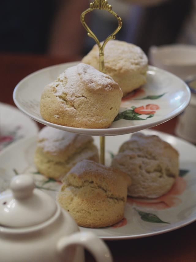 Vegan scones at Casa Angelina, Edinburgh