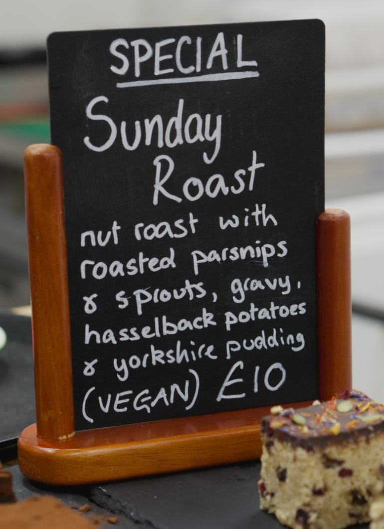 Specials board - Sunday roast