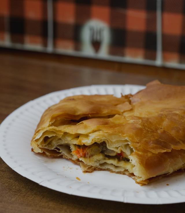 Vegan mushroom verges bake at Piemaker, Edinburgh