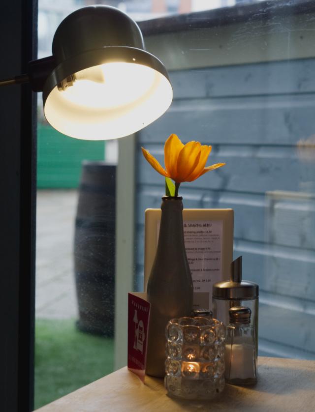 Flower and light at Akva Edinburgh
