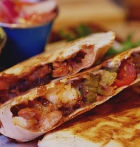 Vegan quesadilla at Illegal Jacks, Edinburgh