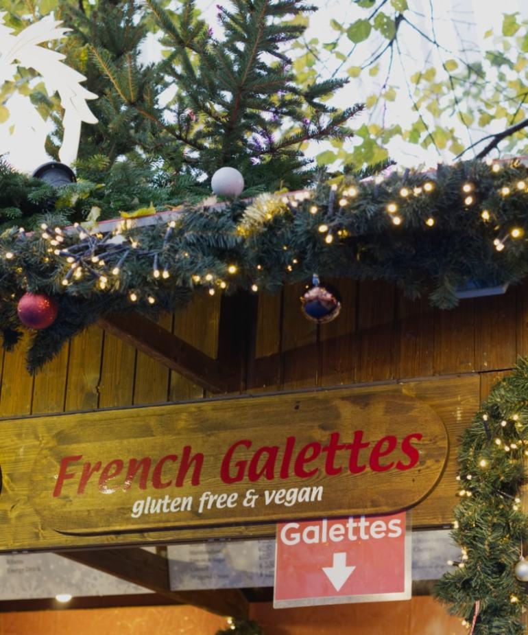 Vegan Galettes at Edinburgh's Christmas