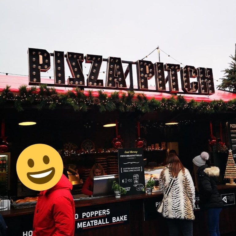 Pizza Pitch at Edinburgh's Christmas