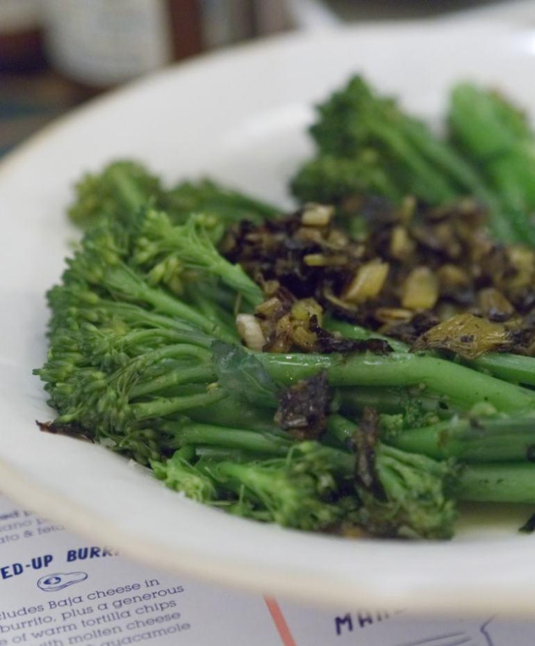Stir fried broccoli at Wahaca Edinburgh