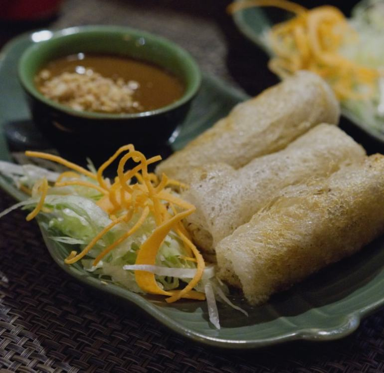 Fried spring rolls at Vietnam House, Edinburgh