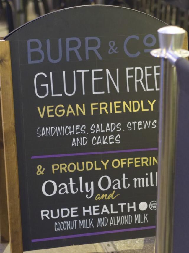 Burr & Co Sandwich Board Edinburgh