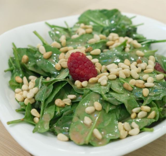 Vegan strawberry spinach salad at Vapiano Edinburgh