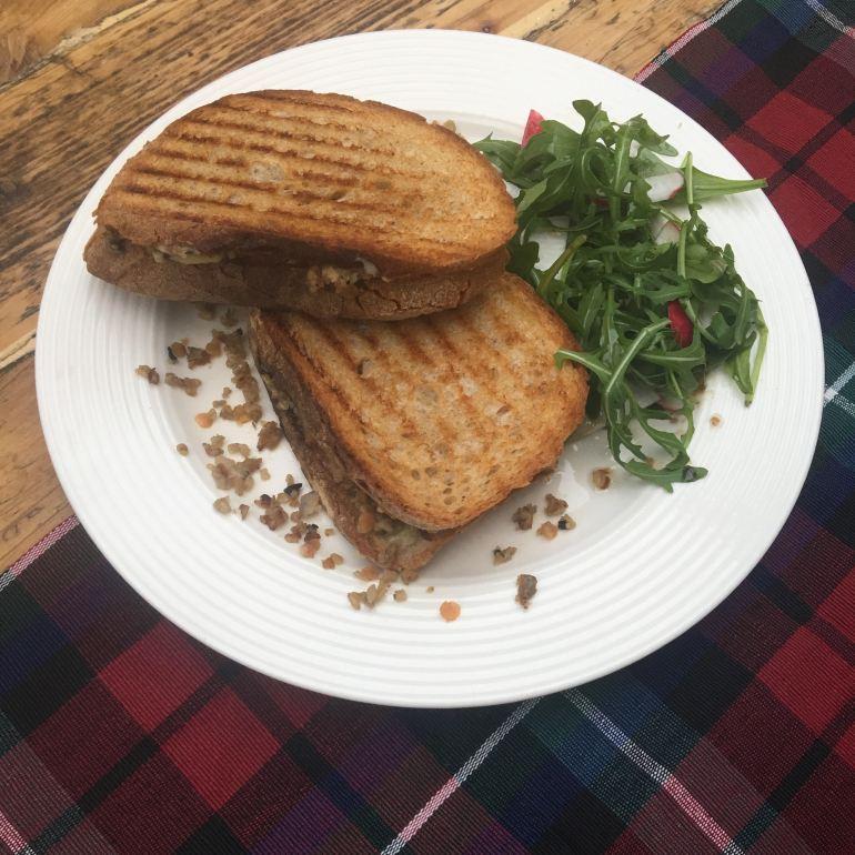 Haggis Cheese Toastie at Beetroot Sauvage