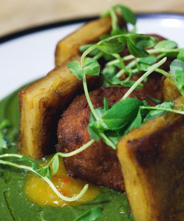 Vegan onion and sweet potato bhaji at No.1 The Grange, Edinburgh