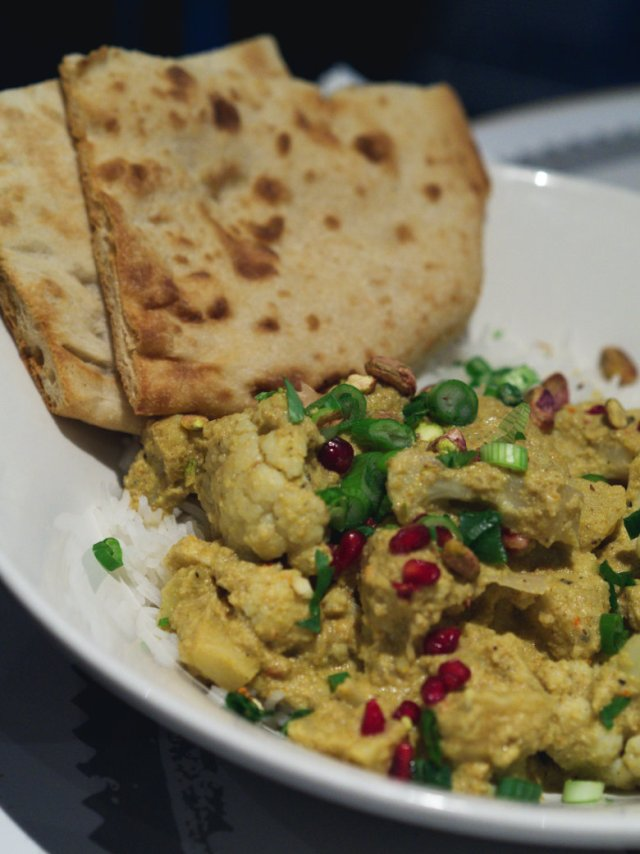 Vegan cauliflower curry at Filmhouse Cafe Bar